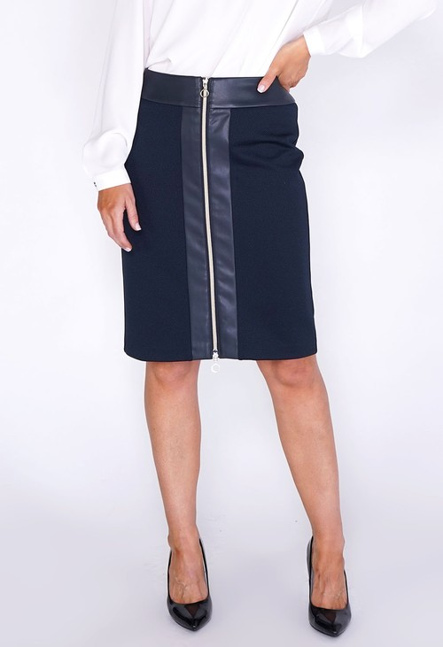 Betty Barclay ZIP FRONT SKIRT NAVY