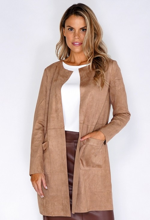 Betty Barclay Faux Suede Longline Blazer