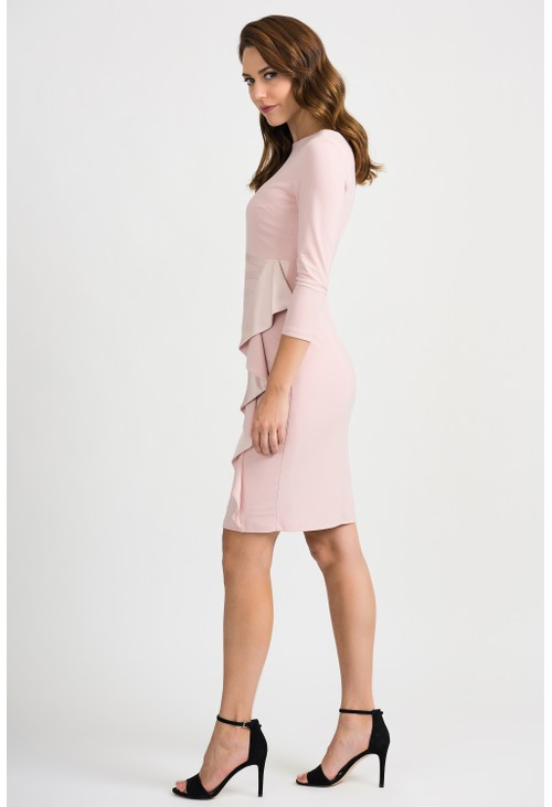 Joseph Ribkoff Pink Ruffle Detail Dress