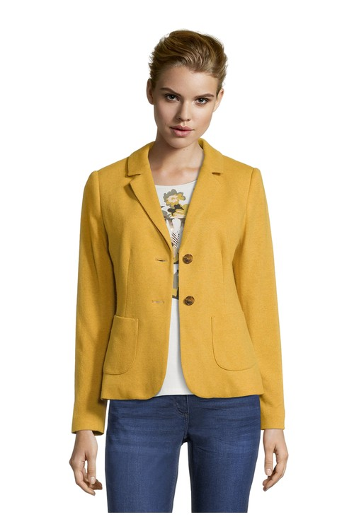 Betty Barclay wool blazer with patch pockets