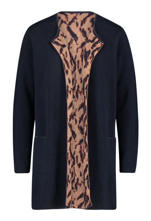 Betty Barclay ANIMAL PRINT REVERSIBLE CARDIGAN