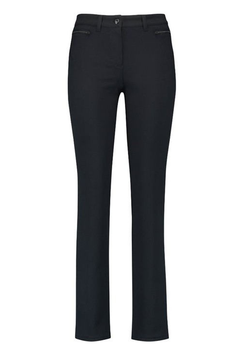 Gerry Weber STRAIGHT FIT TROUSERS WITH ZIPS NAVY