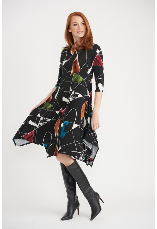 Joseph Ribkoff Colour-block Flowy Dress