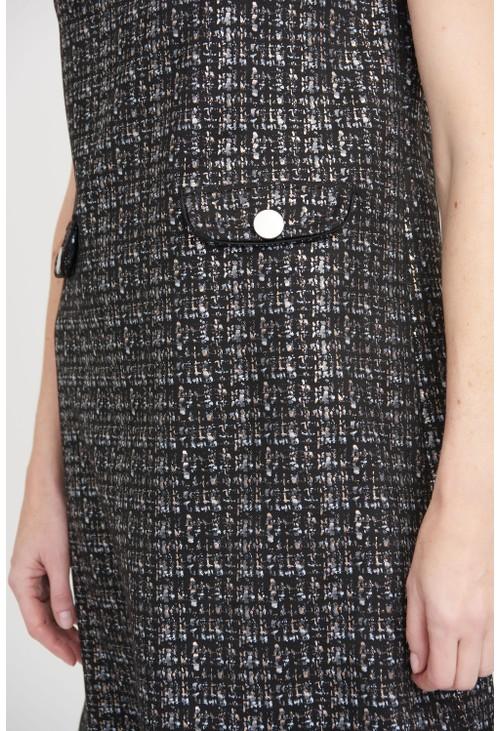 Joseph Ribkoff Sparkling Metallic Tweed Dress