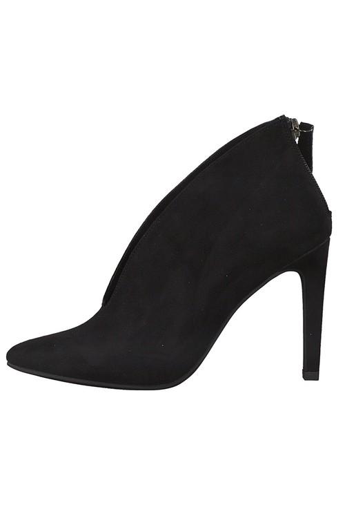 Marco Tozzi Black Microfibre Elegant High Heel Shoe