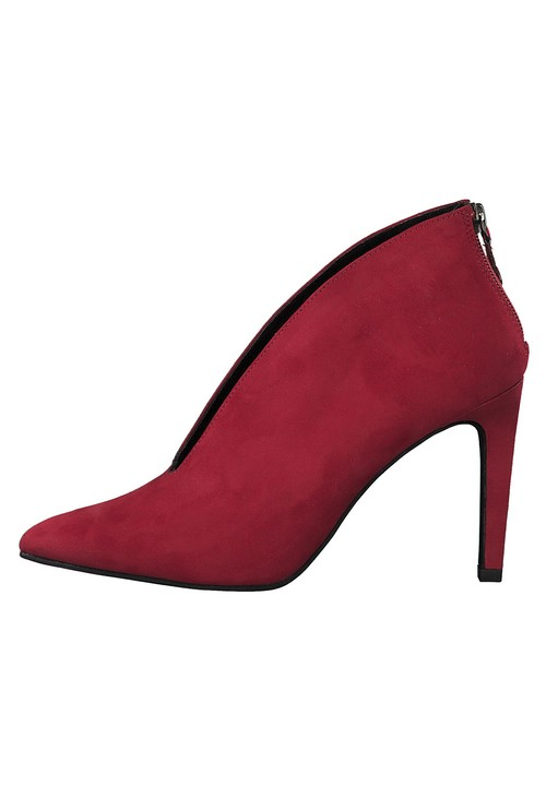Marco Tozzi Red Microfibre Elegant High Heel Shoe