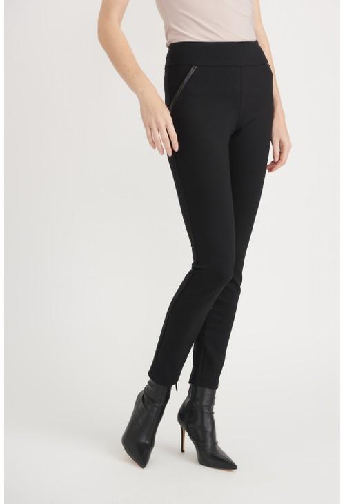 Joseph Ribkoff Black Elastic Waist Trousers