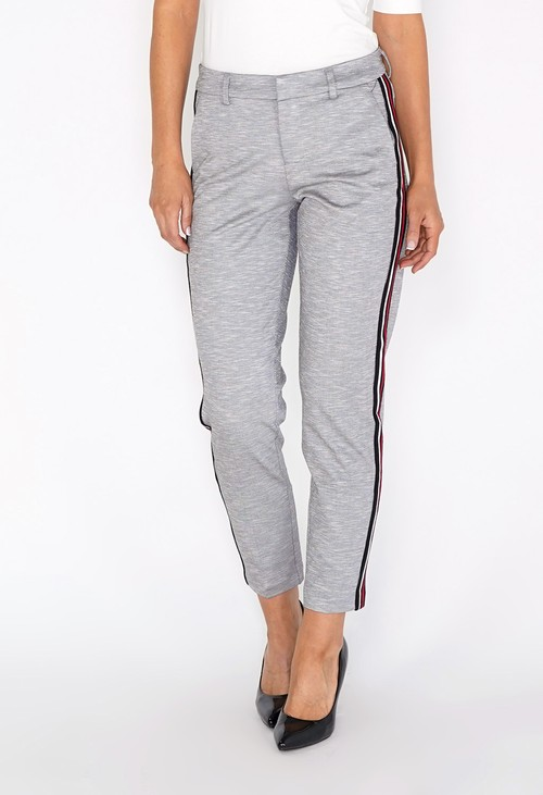 Liverpool Grey Trousers With Side Stripe