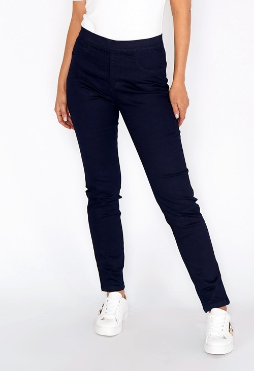 Twist Navy Slim Leg Pull Up Jeans