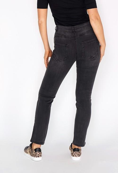 Twist Dark Grey Jeans with Copper Stitching