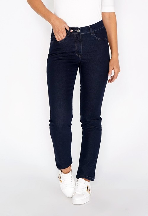 Twist Magic Dark Blue Jeans with Diamante Detail on Back Pockets