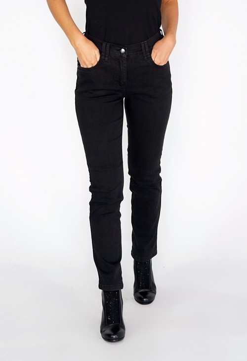 Twist Charcoal 5 Pocket, Comfort Fit High Rise Jeans