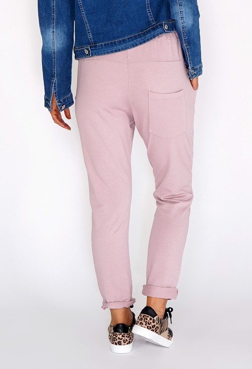 Zapara Pink Joggers with Turned Up Leg