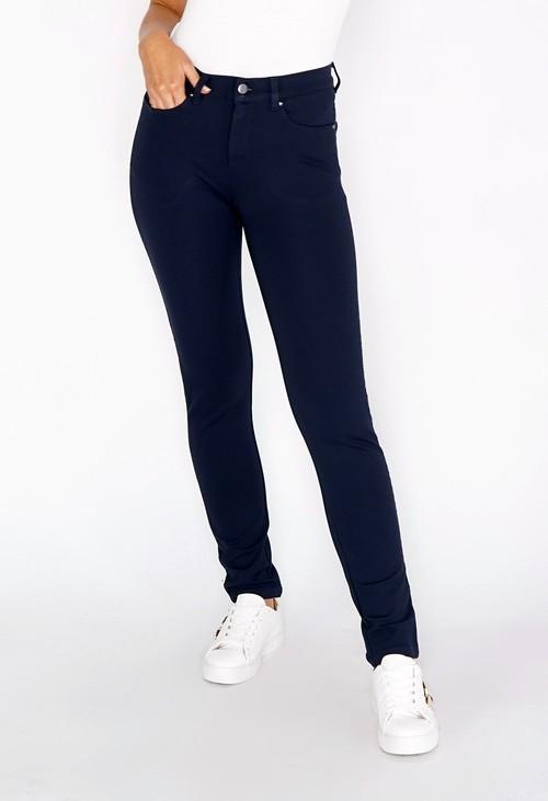 Sophie B Navy Tuxedo Leg with Diamante Details