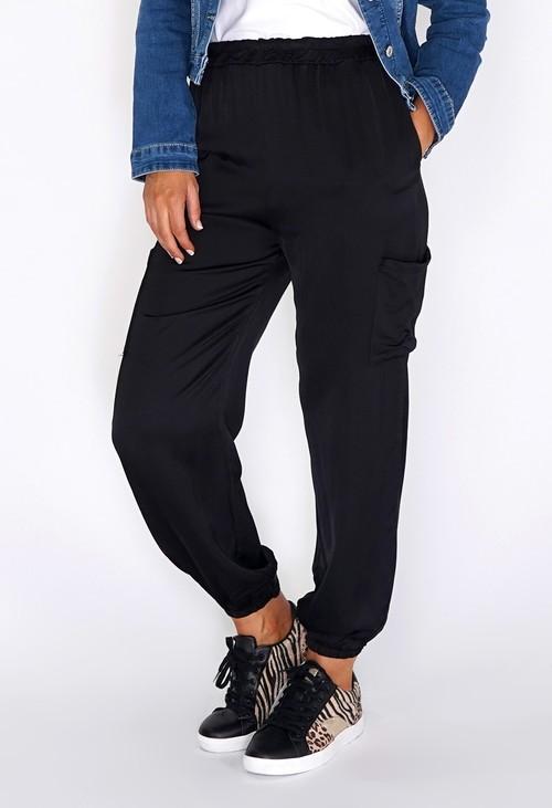 Zapara Black Silk Genie Joggers