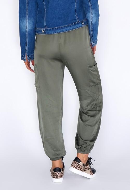 Zapara Green Silk Genie Joggers