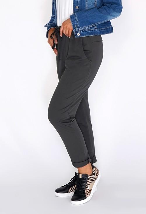 Zapara Khaki Joggers with Turned Up Leg
