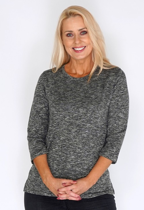 Bicalla Grey Sand Lined Knit Top
