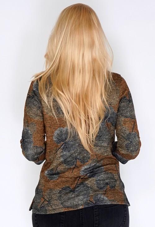 Bicalla Autumnal Pressed Leaf Print Pullover