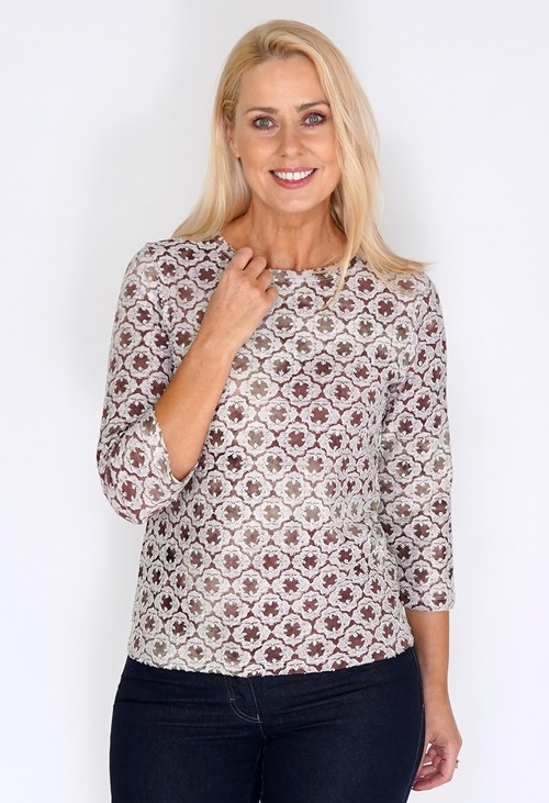 Bicalla Lace Textured Top