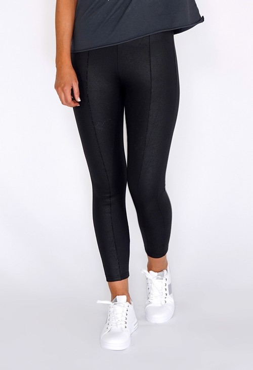 PS Leggings Black Snake Skin Fleece Lined Leggings