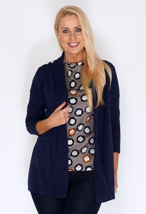 Sophie B Navy Open Knit Cardigan