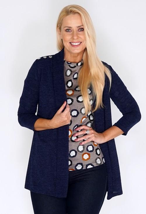 Sophie B Navy Open Knit Cardigan