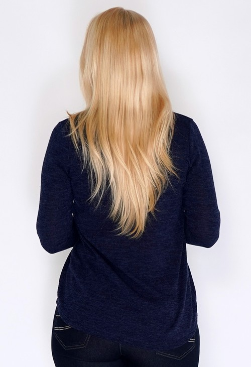 Sophie B Navy Tunic Style Knit with Diamante Details