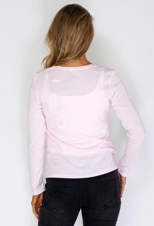 Twist Pink Knit with Rhinestone Stars