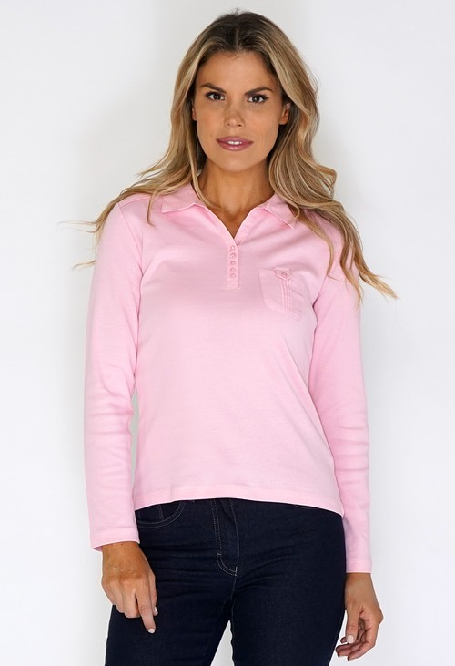 Twist Pink Pleated Shoulder Top