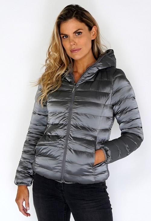 Pamela Scott Grey Reversible Jacket with Faux Fur