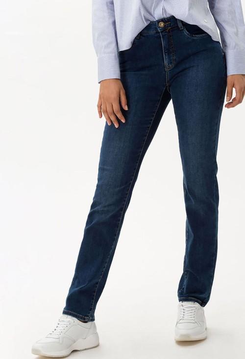 Brax Used Dark Blue Mary Jeans in Regular Leg