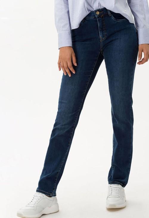 Brax Used dark Blue Mary Jeans in Short Leg