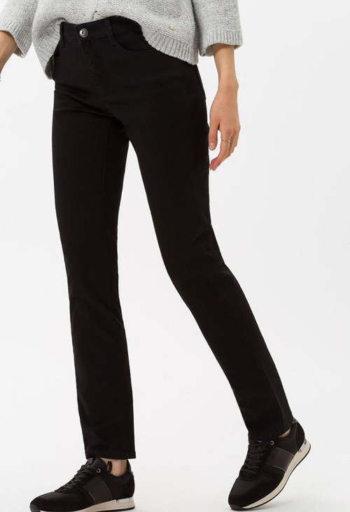 Brax Clean Black Mary Jeans in Regular Leg