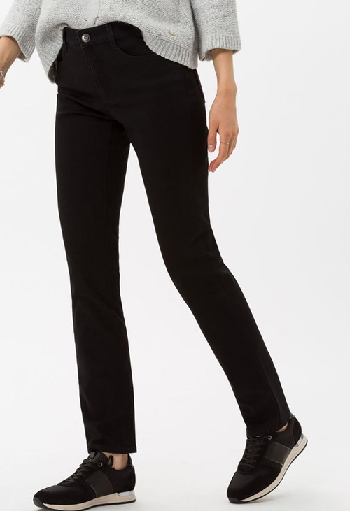 Brax Clean Black Mary Jeans in Short Leg