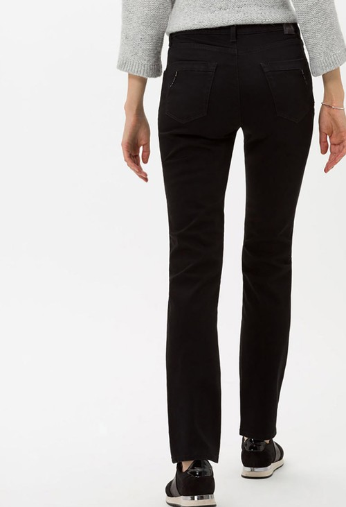 Brax Clean Black Mary Jeans in Short Leg