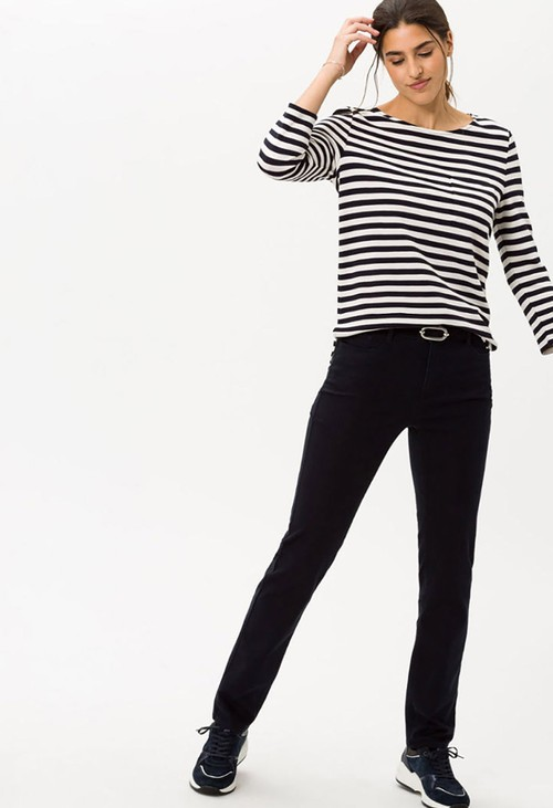 Brax Navy Mary Regular Leg Jeans