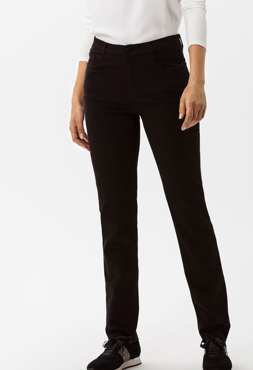 Brax Black Mary Regular Leg Jeans