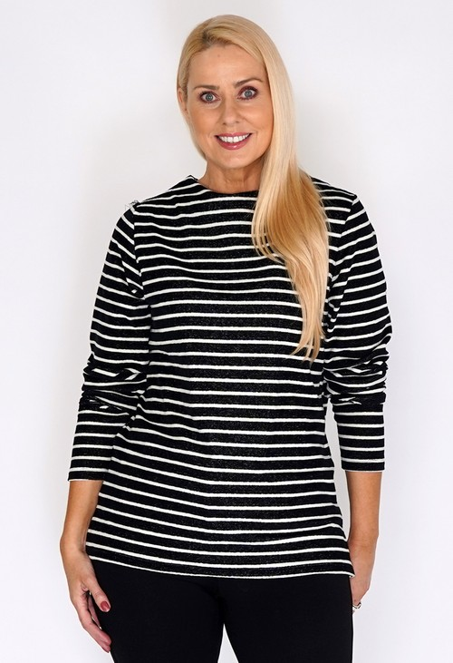 Bicalla Black and White Stripe Top