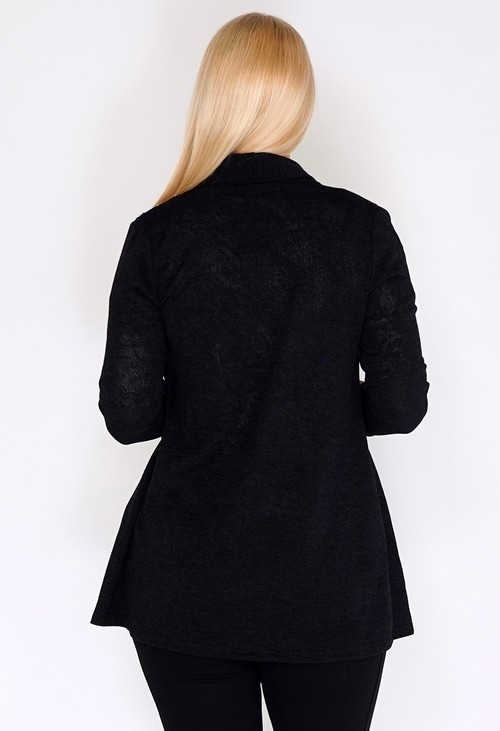 Sophie B Black Open Knit Cardigan