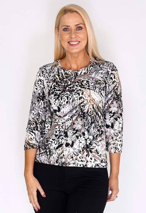 Bicalla Safari Print Top