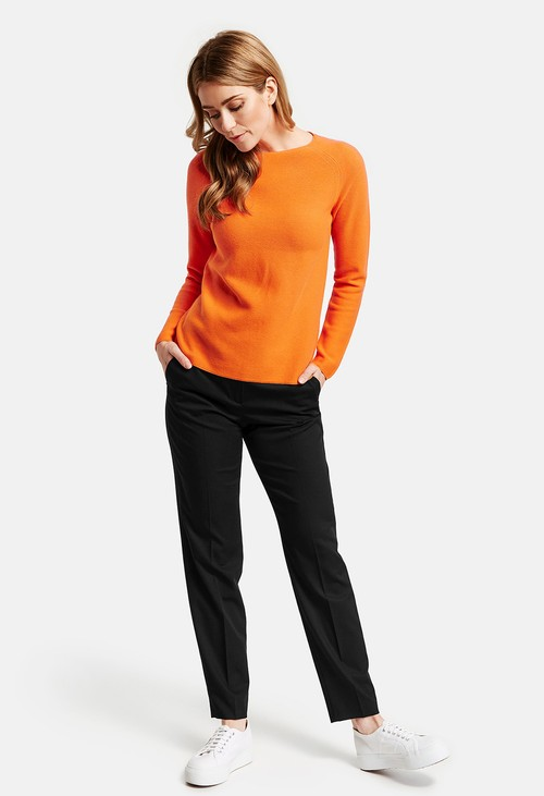 Gerry Weber Black Trousers with Pressed Pleats