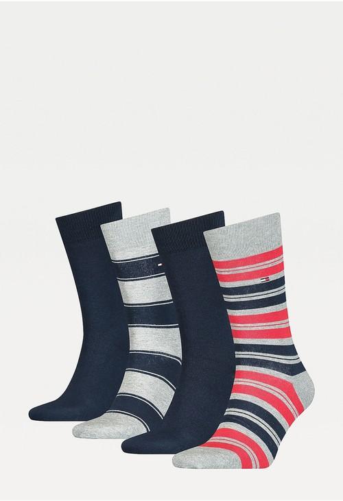Tommy Hilfiger Socks 4-Pack Original Stripe Men's Socks Gift Box
