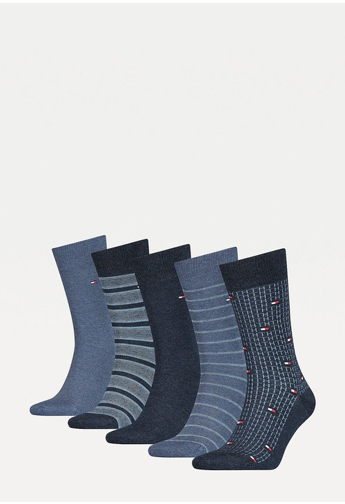 Tommy Hilfiger Socks 5-Pack Micro Stripe Men's Socks Gift Set