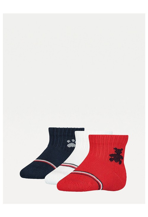 Tommy Hilfiger Socks 3-Pack New born Teddy Socks Gift Set