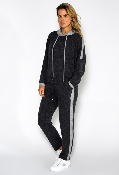 Sophie B Lux Lounge Dark Grey Knit Joggers