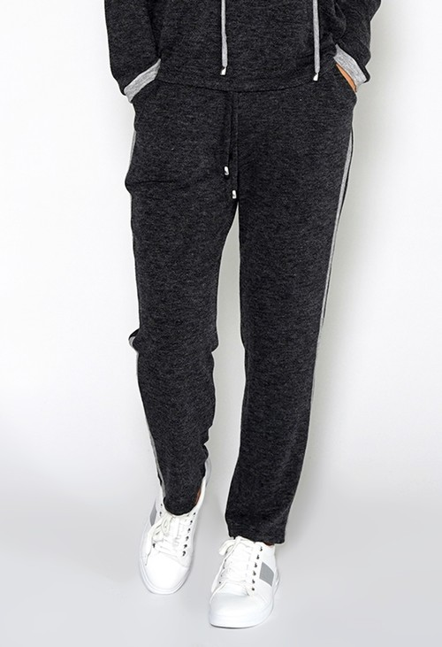Sophie B Lux Lounge Dark Grey Knit Joggers