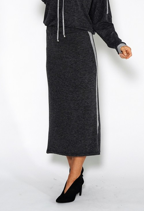 Sophie B Lux Lounge Grey Knit Skirt
