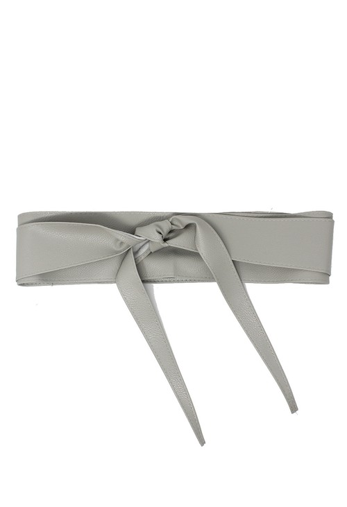 Pamela Scott Grey Obi Belt