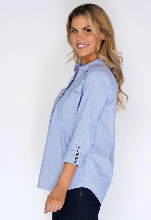 Twist Blue Fine Stripe Shirt